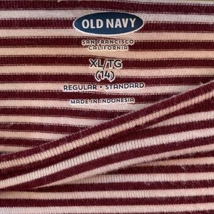 Old Navy Tops - Old Navy Girls Red Striped Long Sleeve